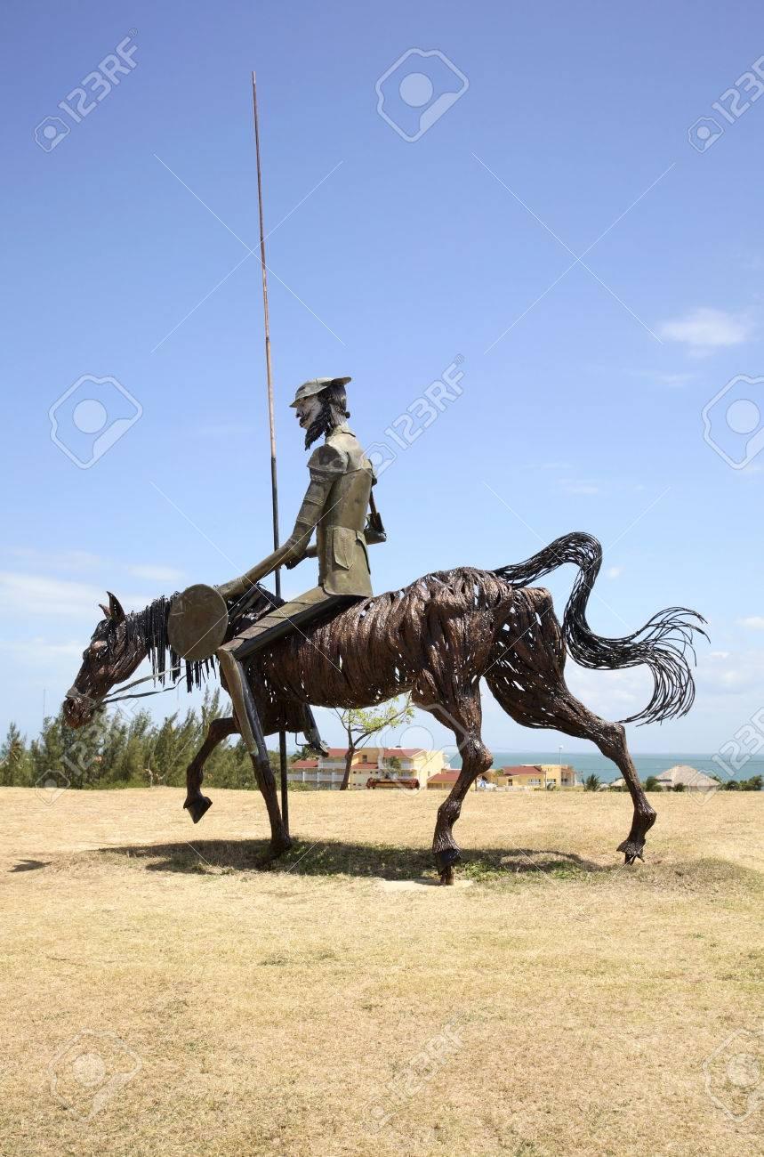 Don Quixote Sculpture In Varadero. Cuba Stock Photo, Picture And ...