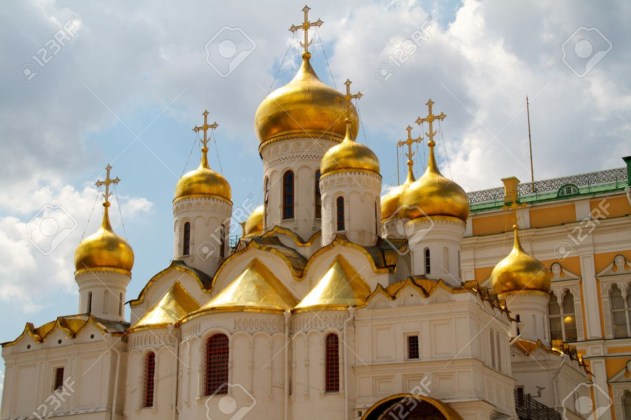 The Cathedral of the Annunciation in Kremlin, Moscow, Russia Stock Photo - 10267005
