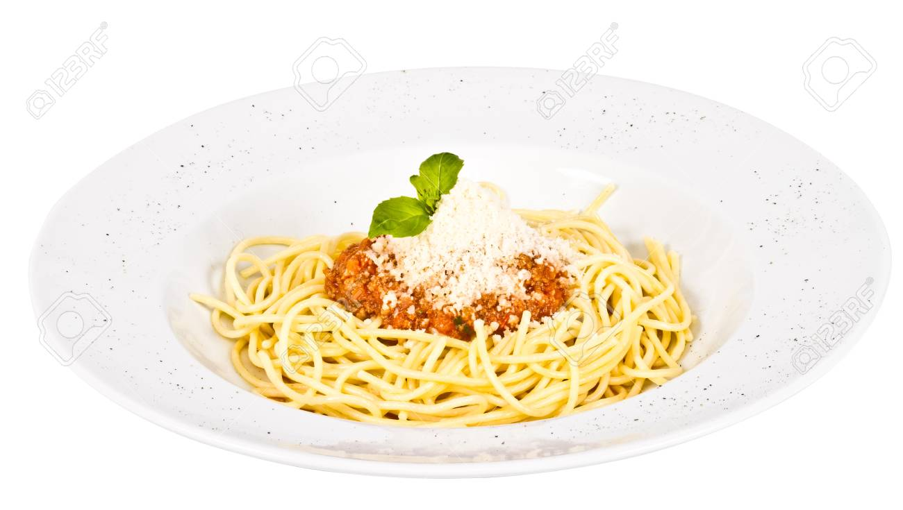 Spaghetti Pasta With Tomato Beef Sauce