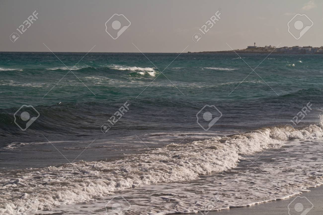 Sea waves on the Mediterranean sea Stock Photo - 12518749