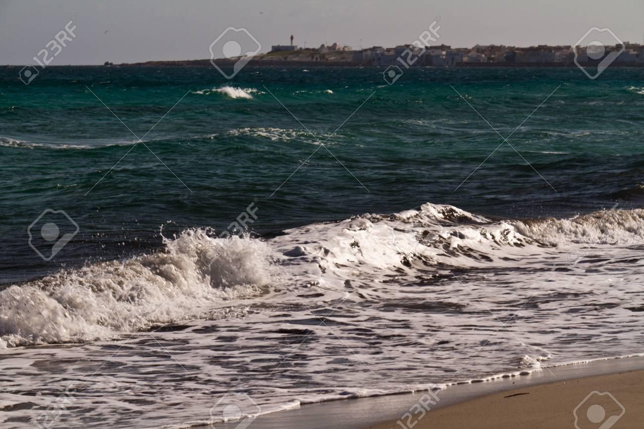 Sea waves on the Mediterranean sea Stock Photo - 12518553