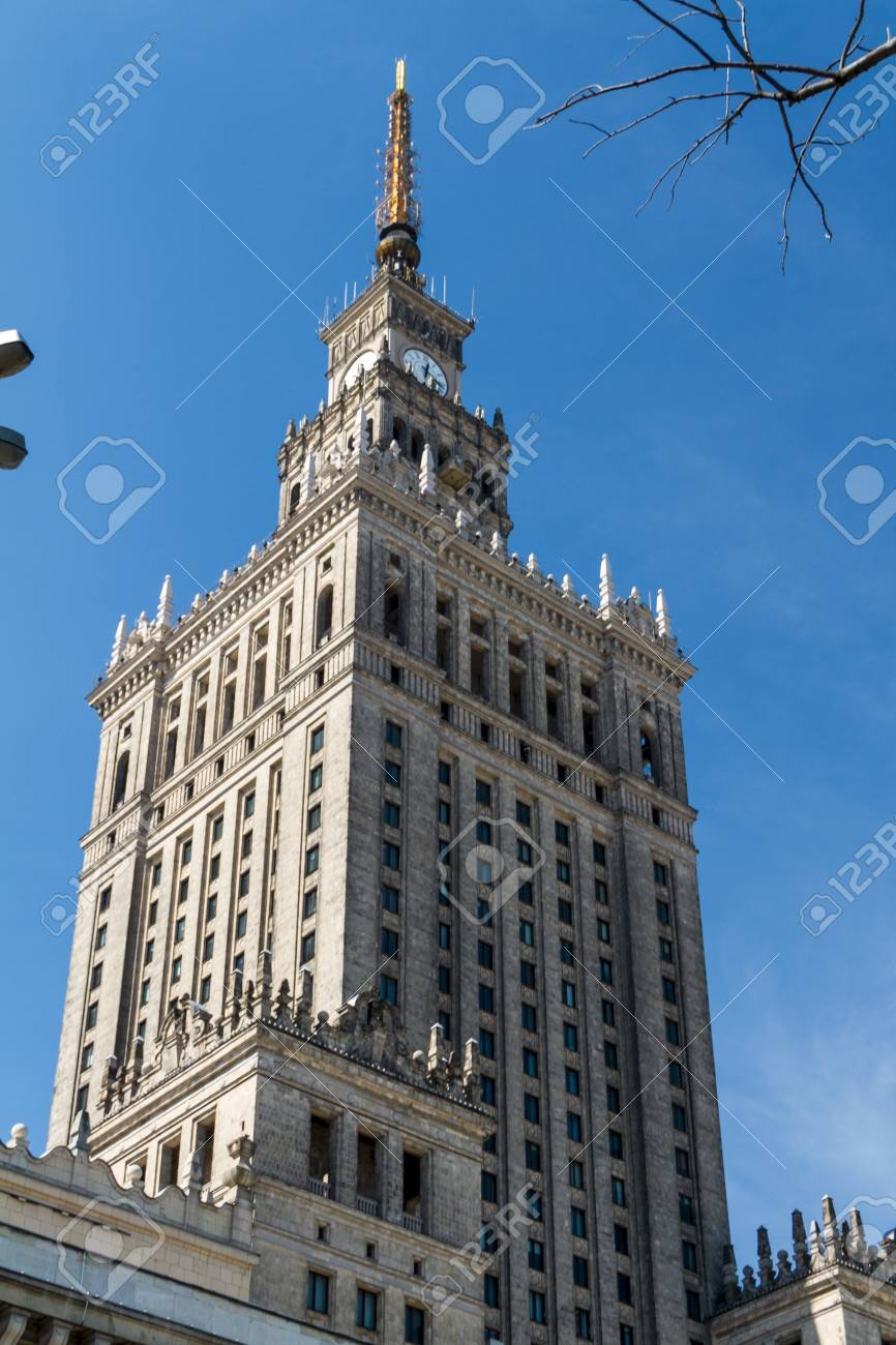 Palace of Culture and Science, Warsaw, Poland Stock Photo - 13789385