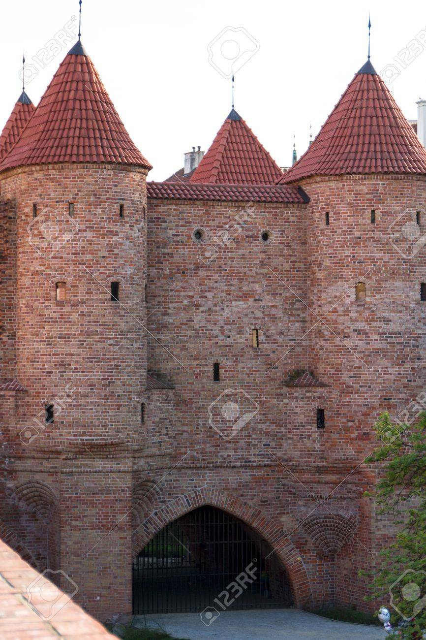 Sights of Poland. Warsaw Old Town with Renaissance Barbican Stock Photo - 14144020