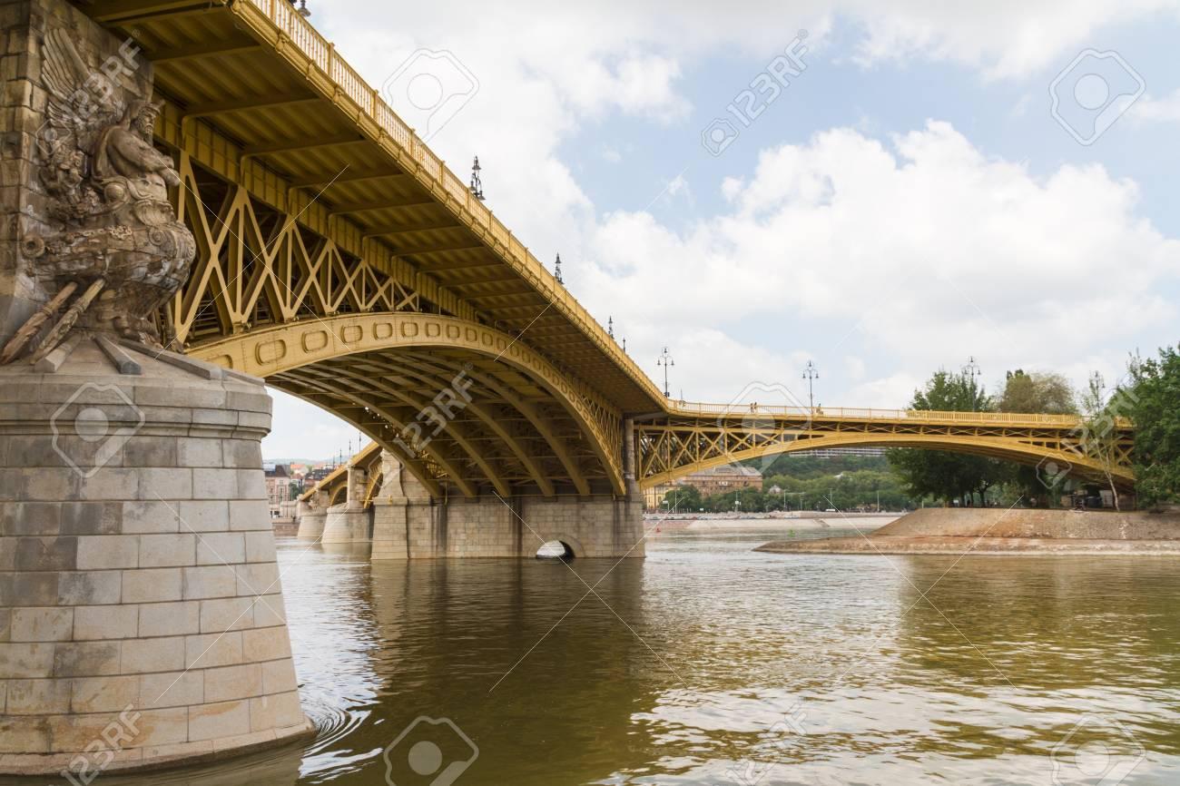 Scenic view of the recently renewed Margit bridge in Budapest. Stock Photo - 14713585
