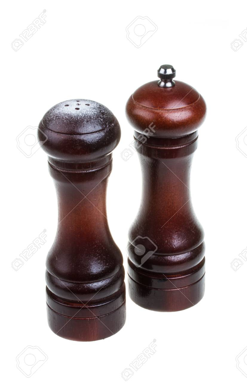 Salt and pepper shakers isolated on the white background Stock Photo - 16099788