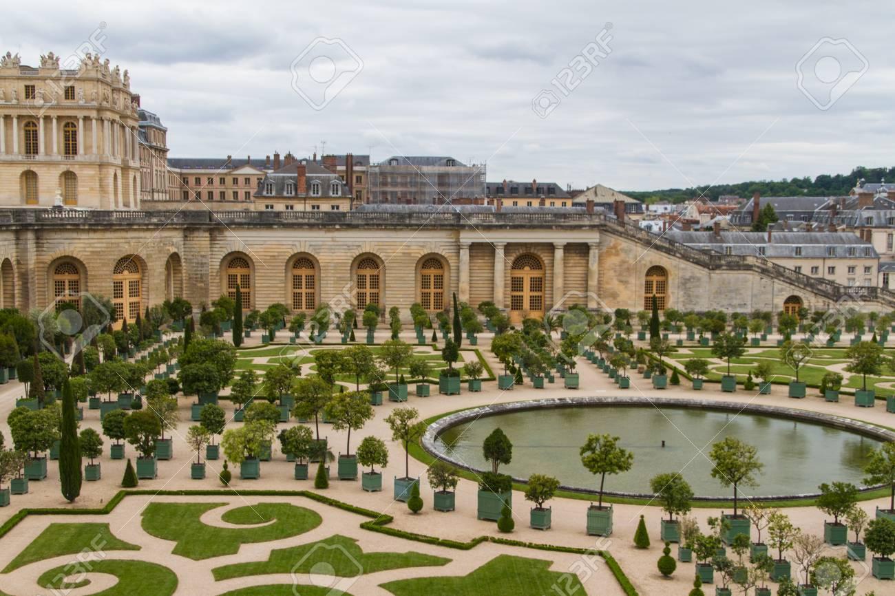 Famous Palace Versailles Near Paris, France With Beautiful Gardens ...