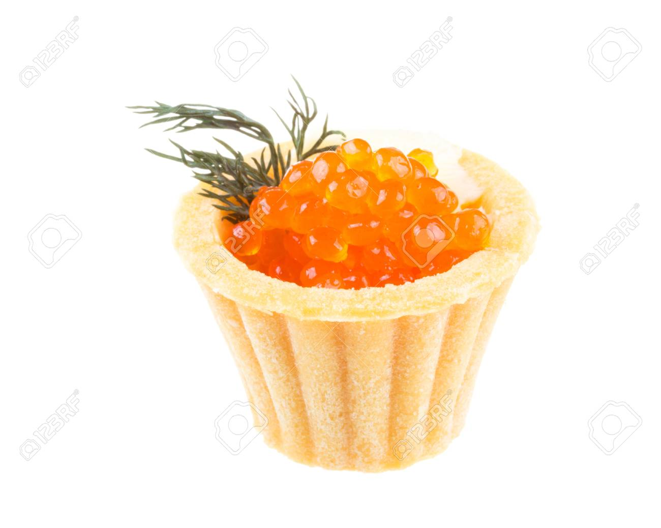 Canapes with red caviar Stock Photo - 16471660