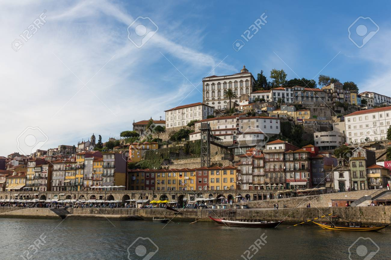 View of Porto city at the riverbank (Ribeira quarter) and wine boats(Rabelo) on River Douro(Portugal), a UNESCO World Heritage City. Stock Photo - 16792072
