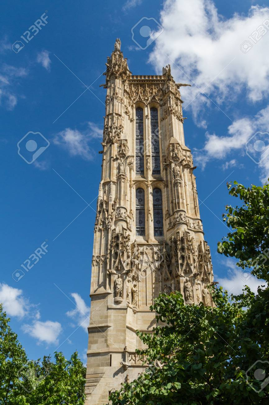 Saint-Jacques Tower, Paris, France. Stock Photo - 16811750