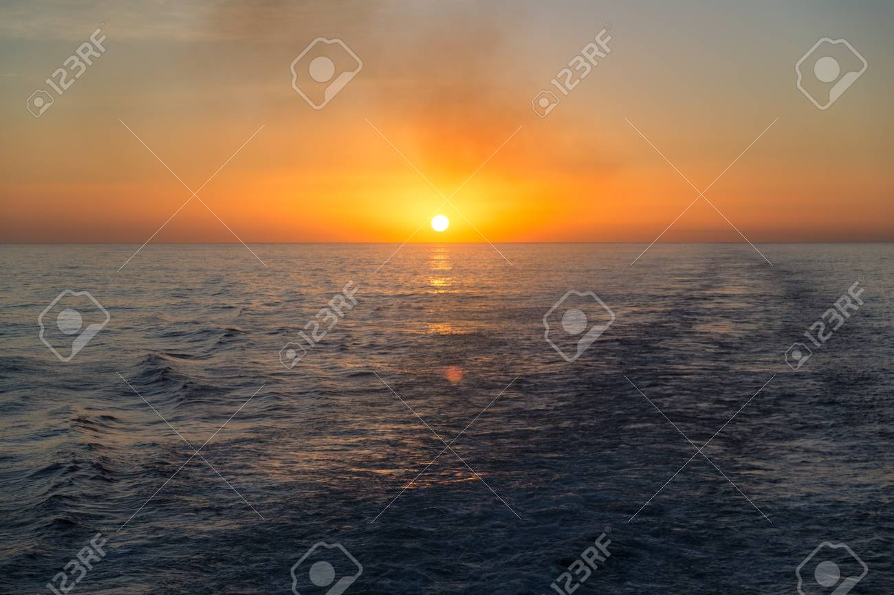 Sunset over the ocean Stock Photo - 16810924