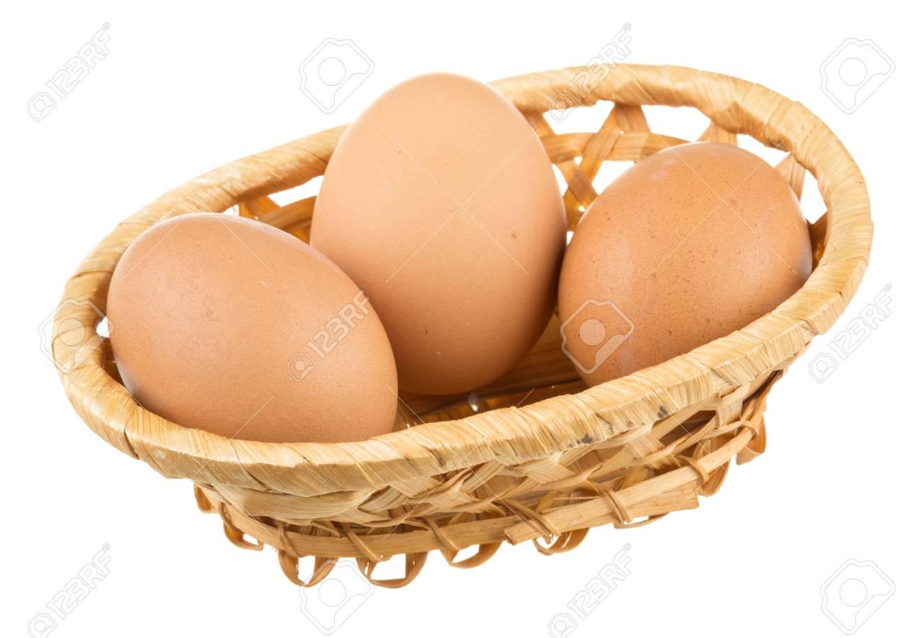 Eggs isolated on white background Stock Photo - 16840349