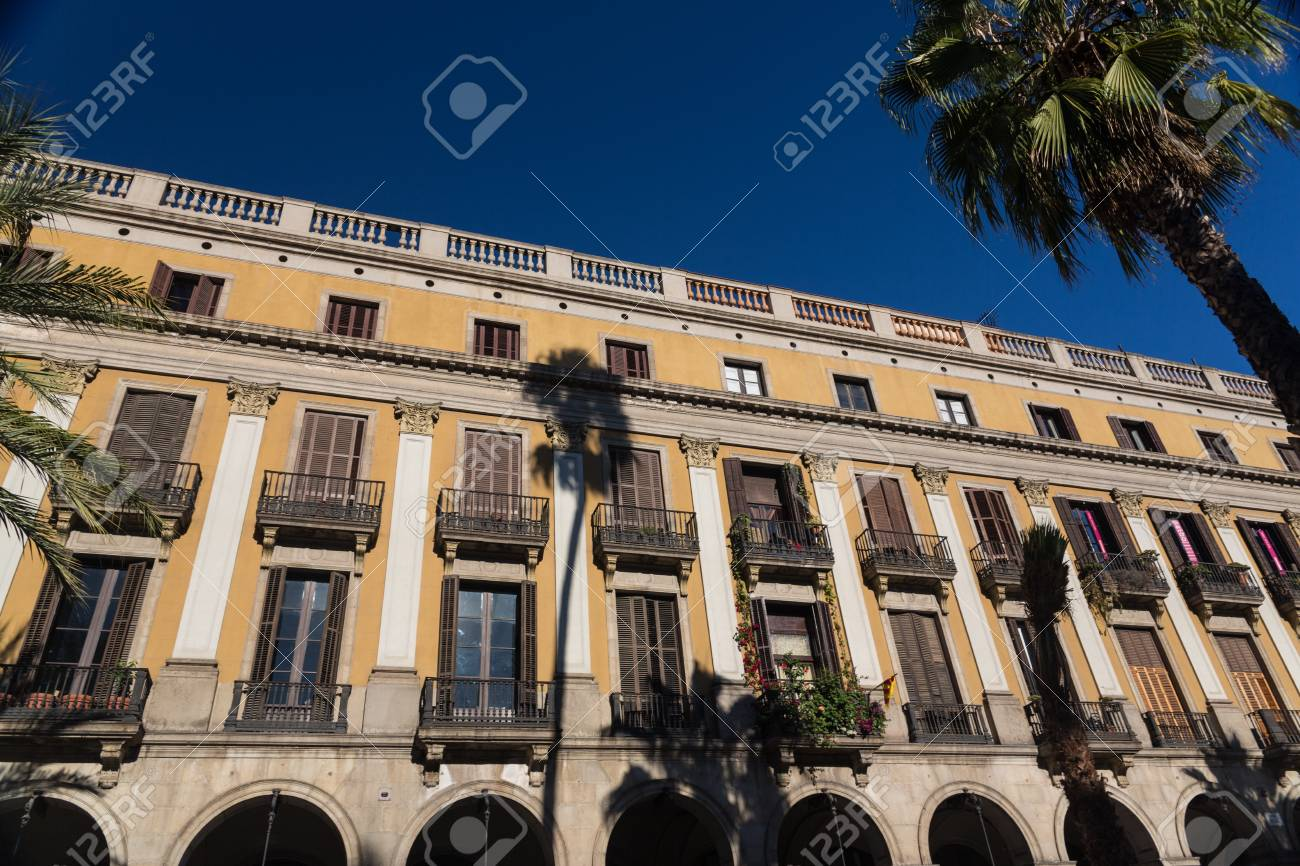 Buildings' facades of great architectural interest in the city of Barcelona - Spain Stock Photo - 17201995