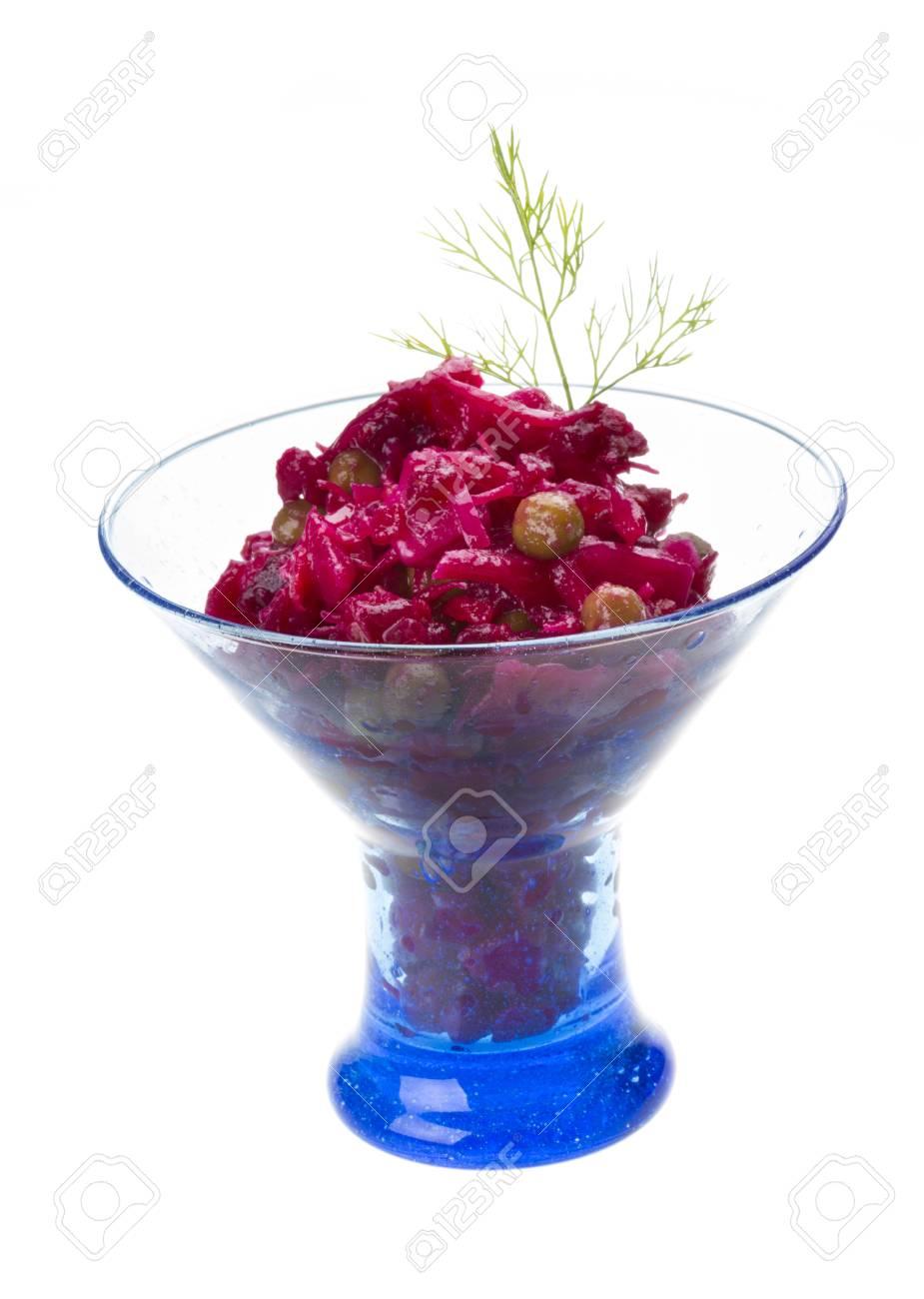 Vinaigrette Russian beetroot salad Stock Photo - 17489408