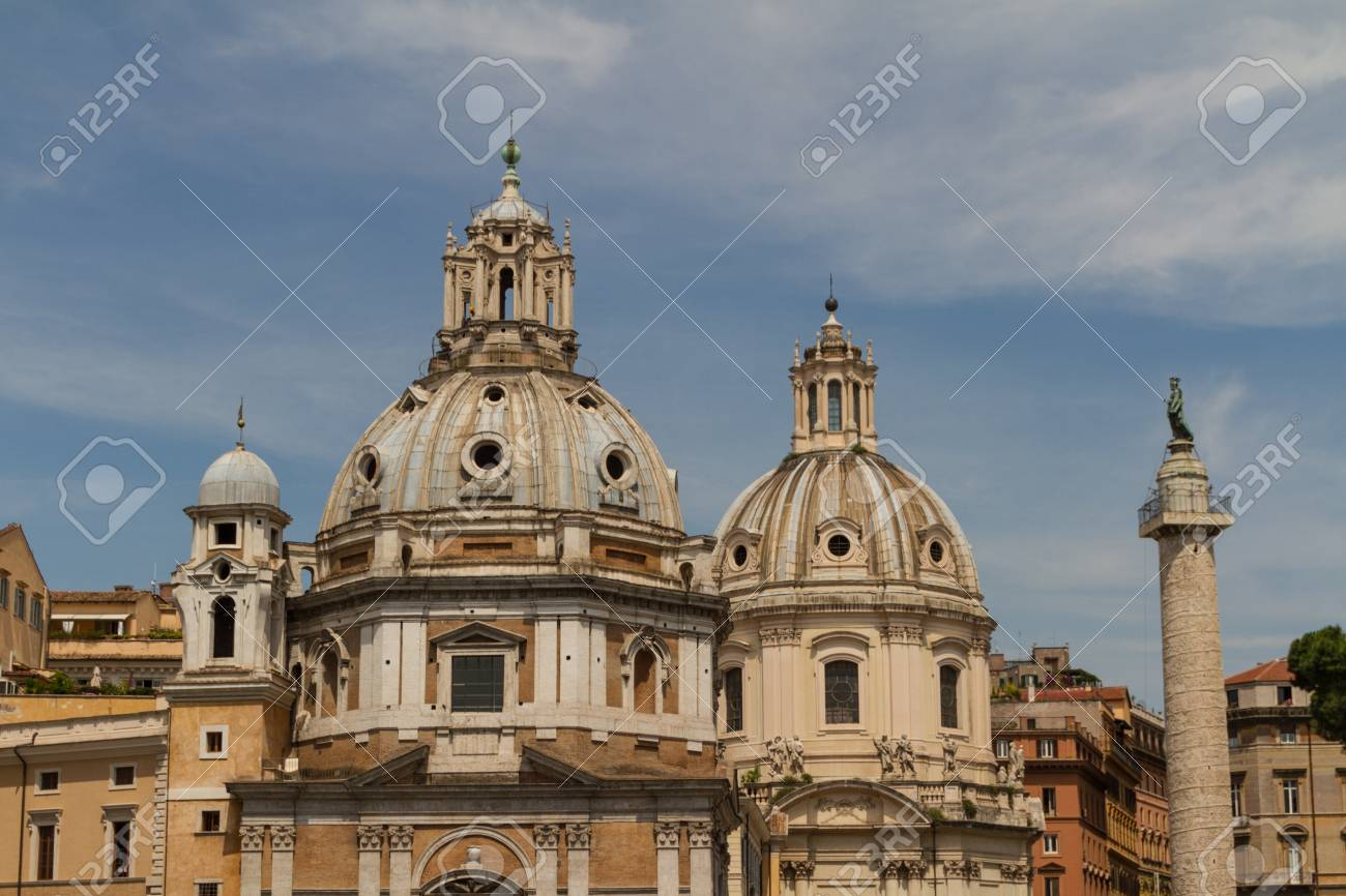 Chiesa del Santissimo Nome di Maria al Foro Traiano and Santa Maria di Loreto in Rome, Italy Stock Photo - 17559470
