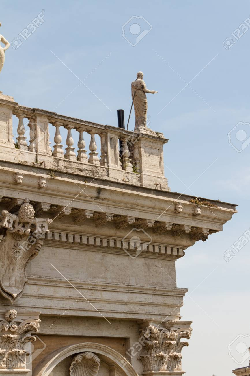 Great church in center of Rome, Italy. Stock Photo - 18670056