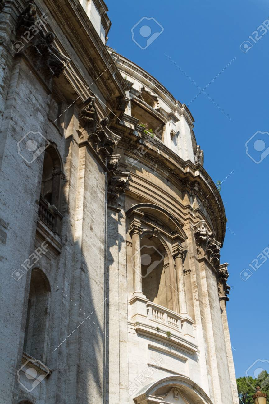 Great church in center of Rome, Italy. Stock Photo - 18822747