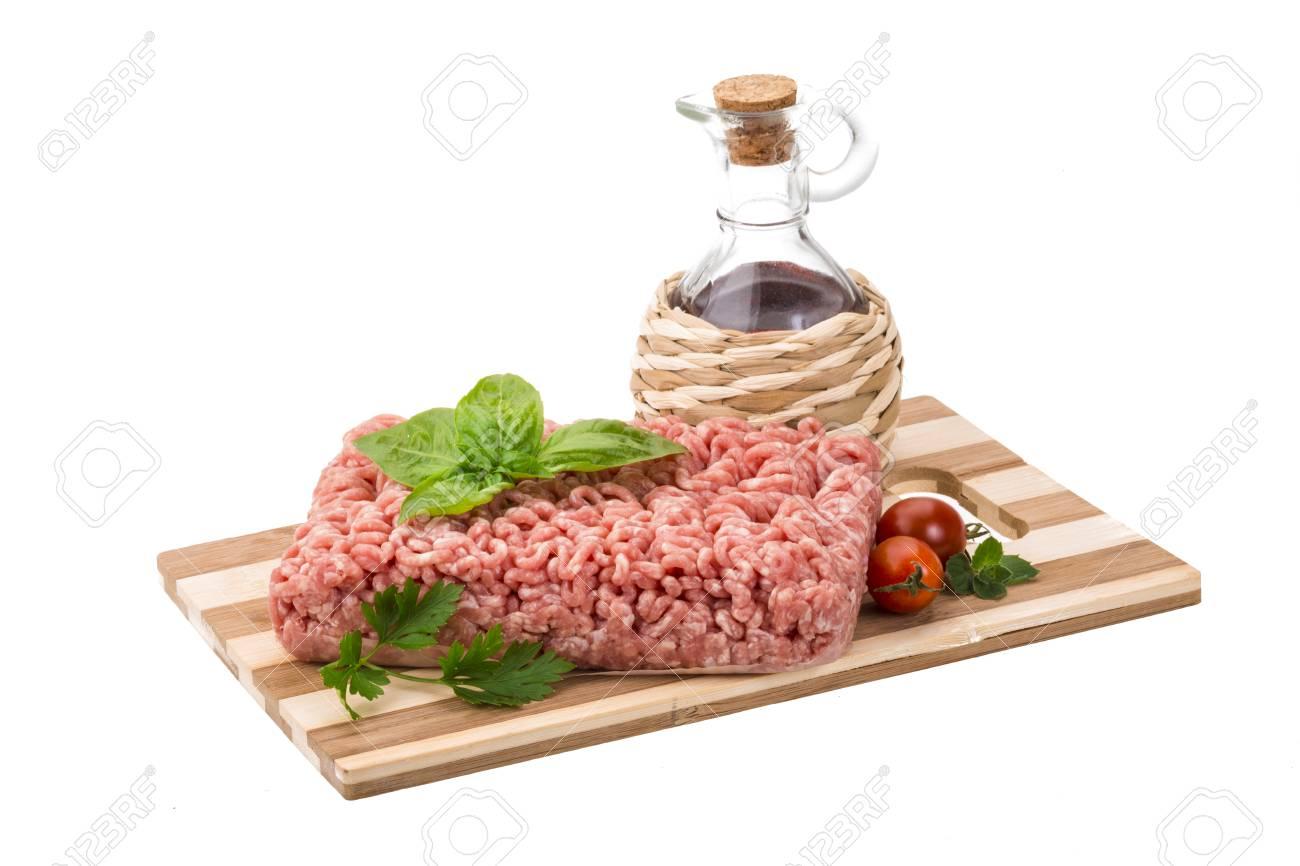 Stuffed raw meat with basil Stock Photo - 22711204