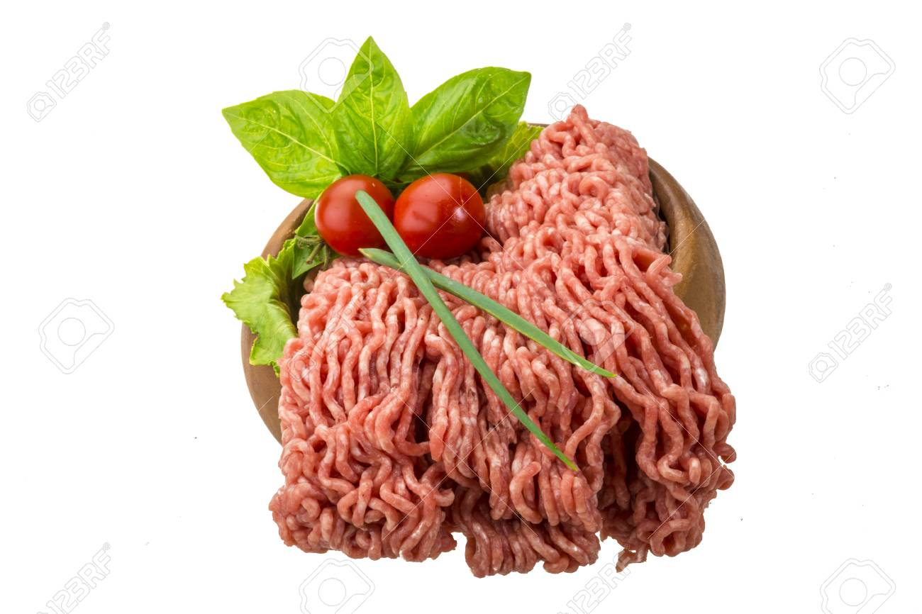 Stuffed raw meat with basil Stock Photo - 23436367