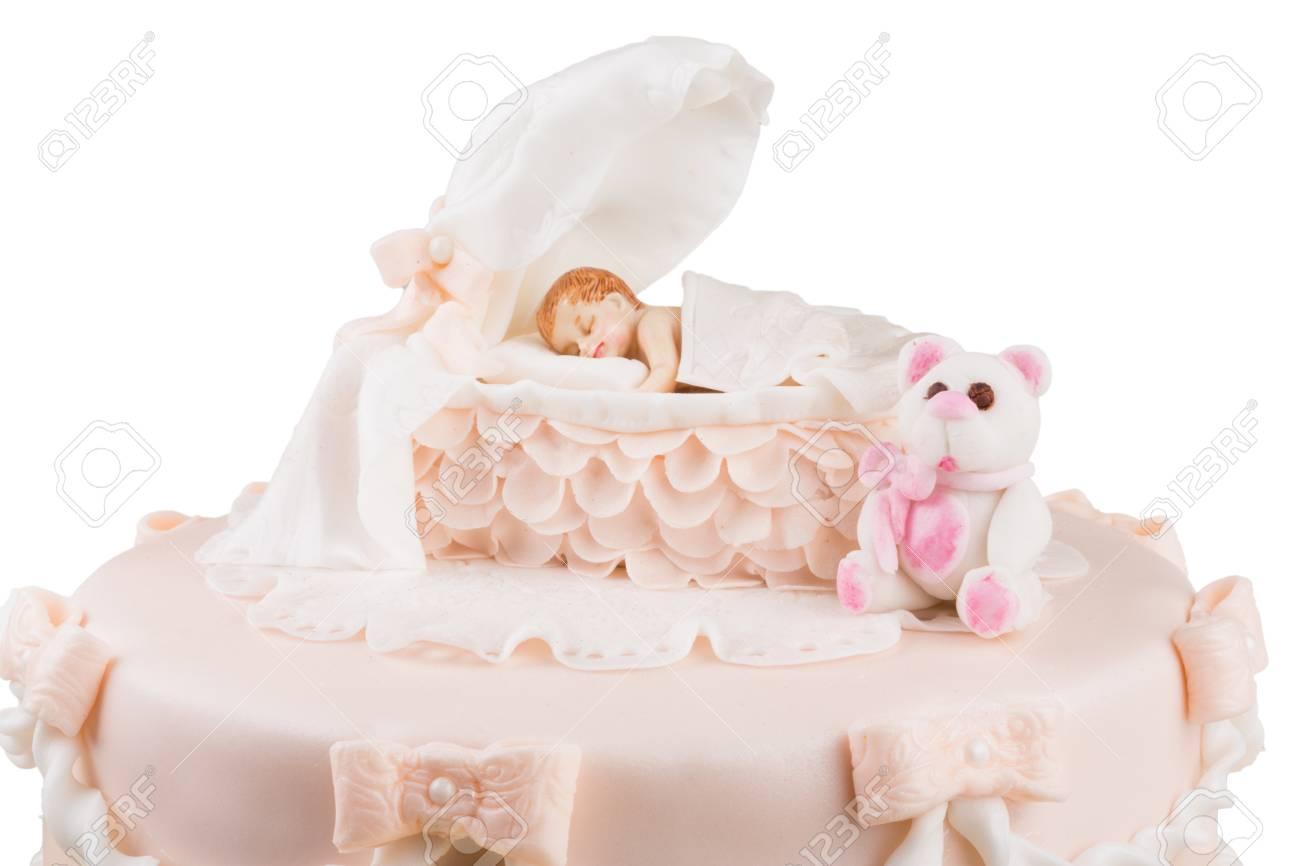 Birthday Cake Shot Images ~ Handmande birthday cake shot in a closeup scene stock photo
