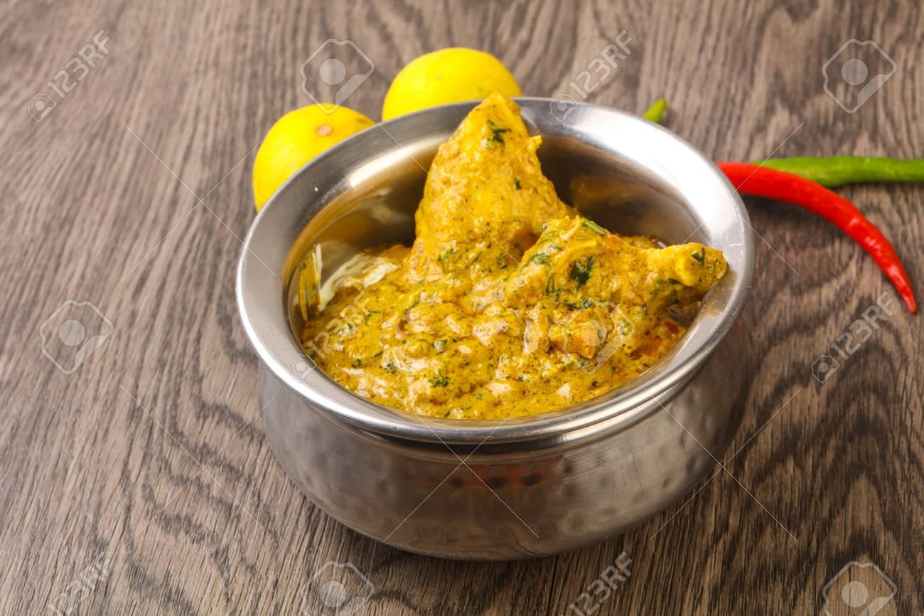 Indische Traditionelle Küche - Huhn Tikka Masala Lizenzfreie Fotos ...