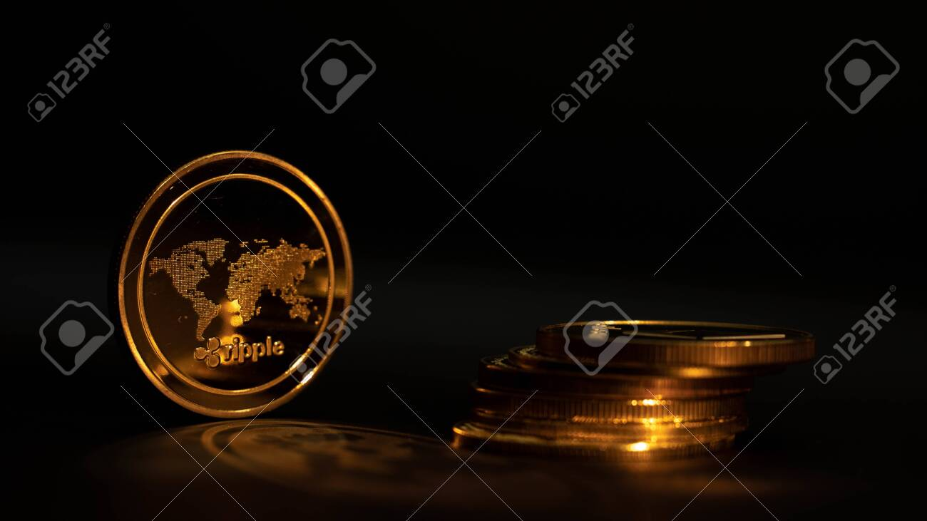 crypto coin ripple xrp in black background with another coins stock photo picture and royalty free image image 147147162 123rf com