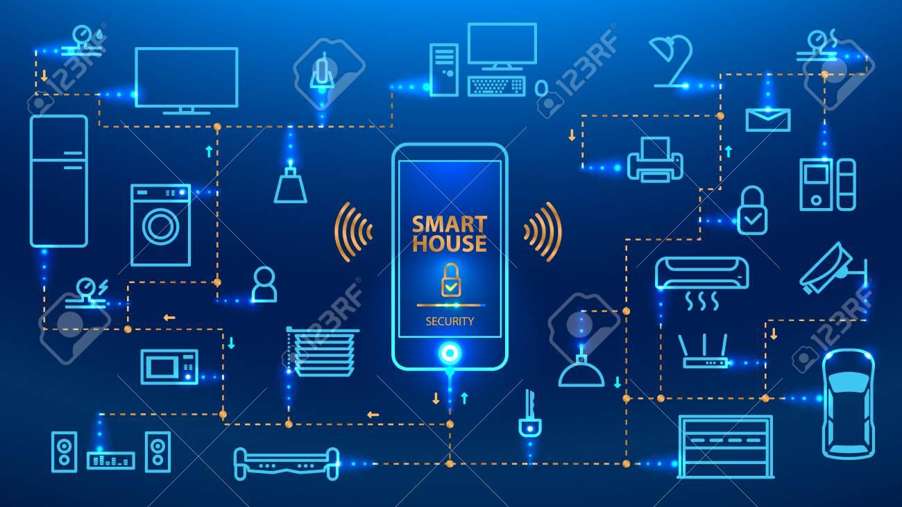 Das Internet Der Dinge. Das Smartphone Steuert Die Geräte Im Haus ...