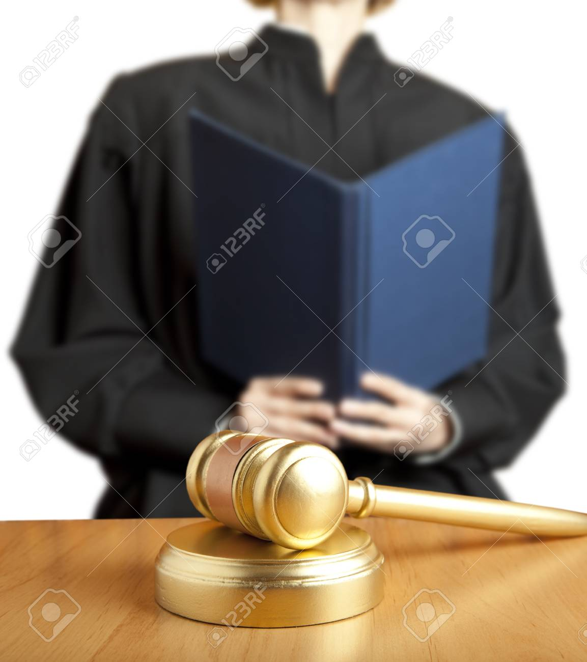 Gavel & female judge Stock Photo - 15441699