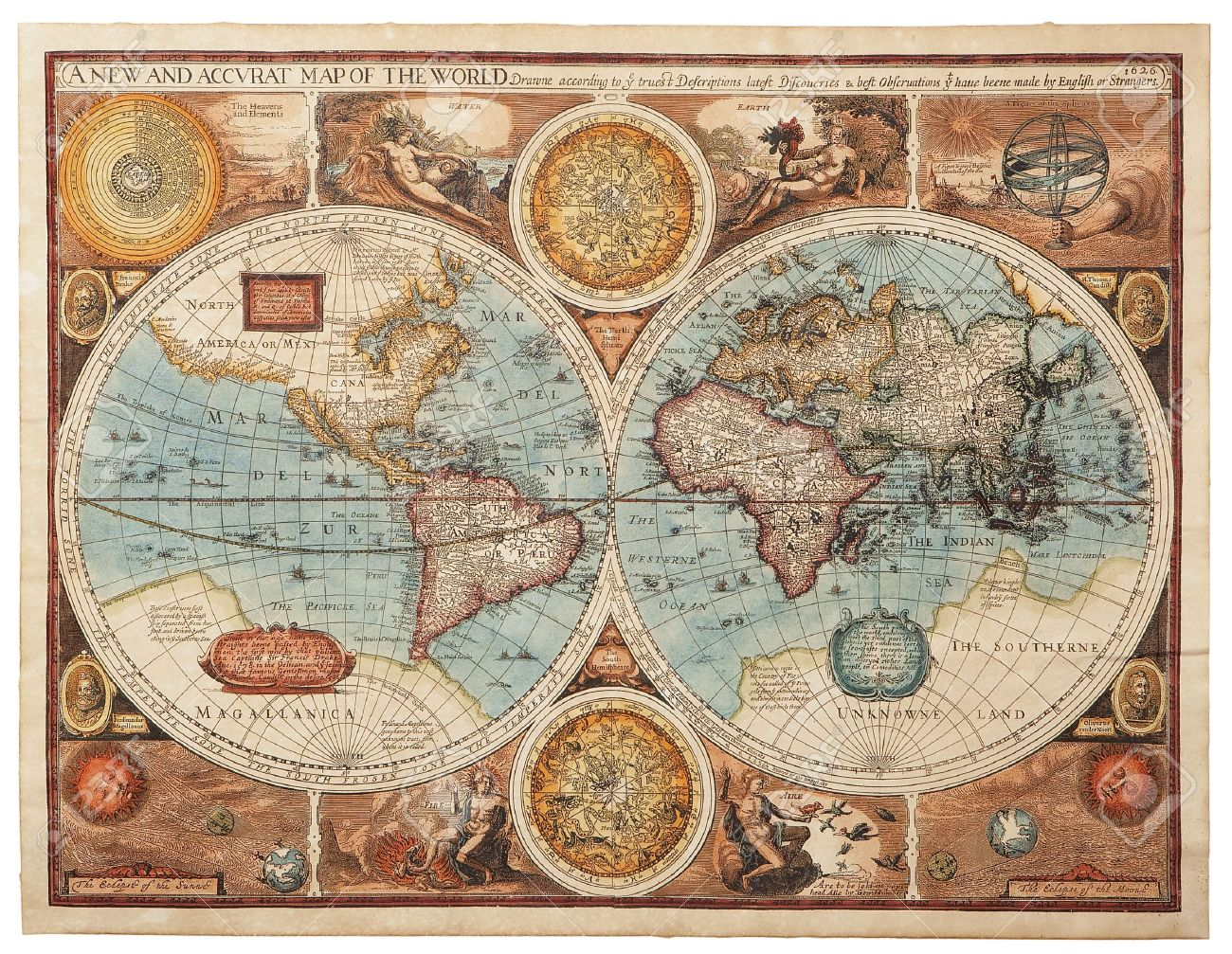 Old map 1626 A new and accvrat map of the world Stock Photo - 17237806