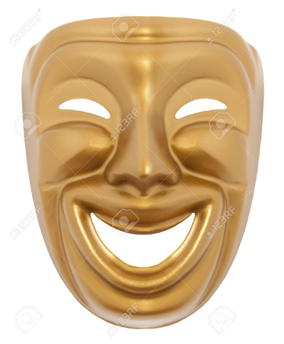 Comedy  theatrical mask isolated on a white background Stock Photo - 18224883