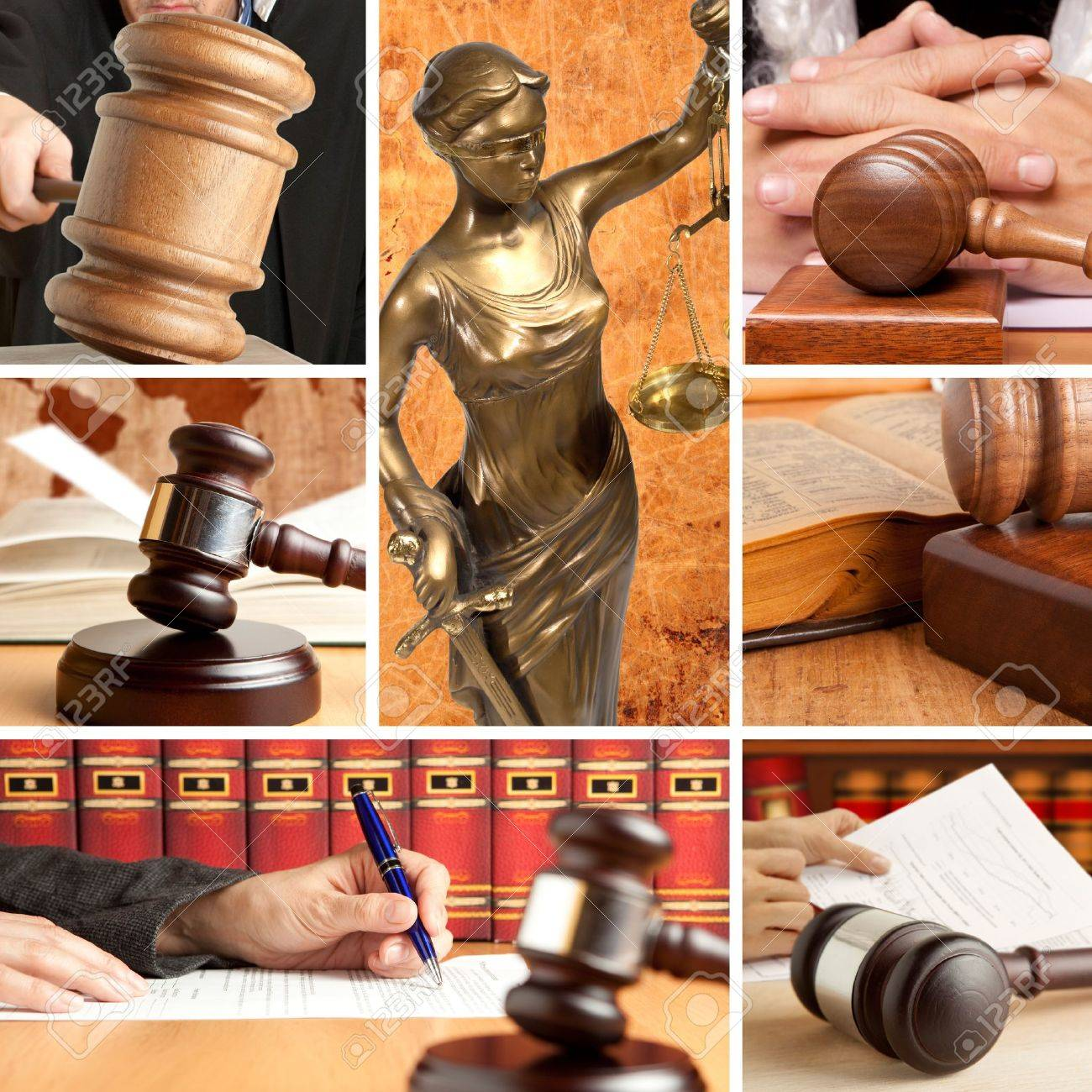 Set of wooden gavel and law 2 Stock Photo - 20881307