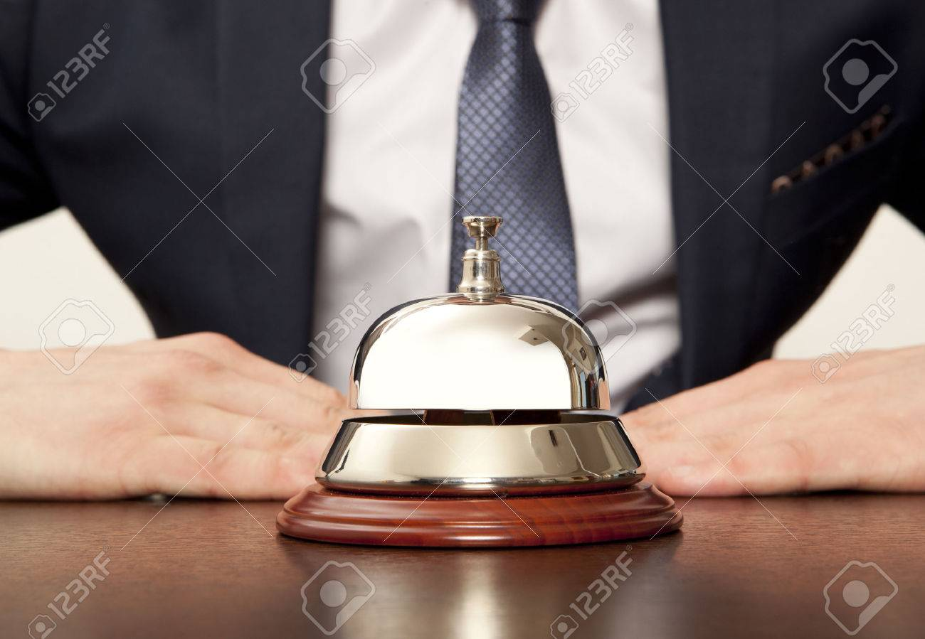 Hotel Concierge. Service bell at the hotel - 36556427