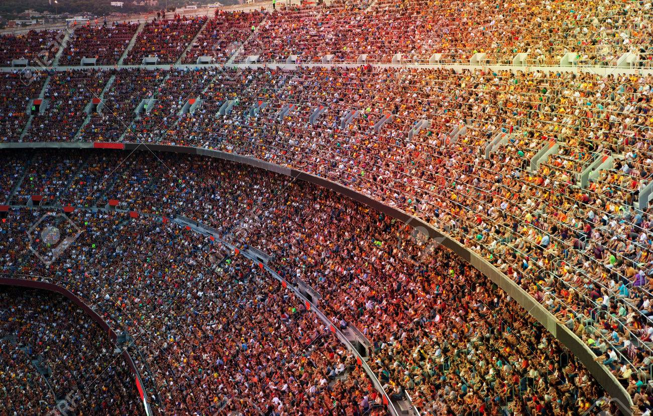 Fans at the big football stadium - 43944452