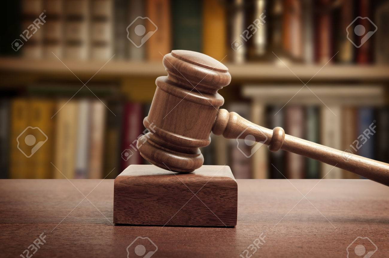 The gavel of a judge in court - 45327326
