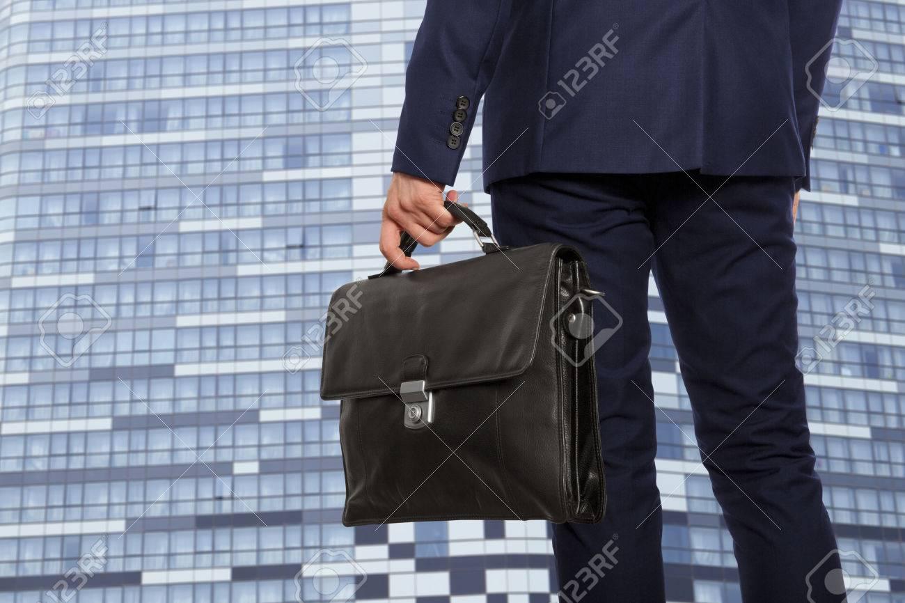 Portfolio investor. Businessman with briefcase - 50363826