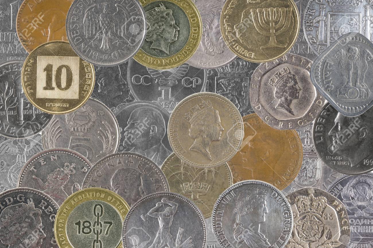 Münzen Verschiedener Länder Der Welt Lizenzfreie Fotos Bilder Und