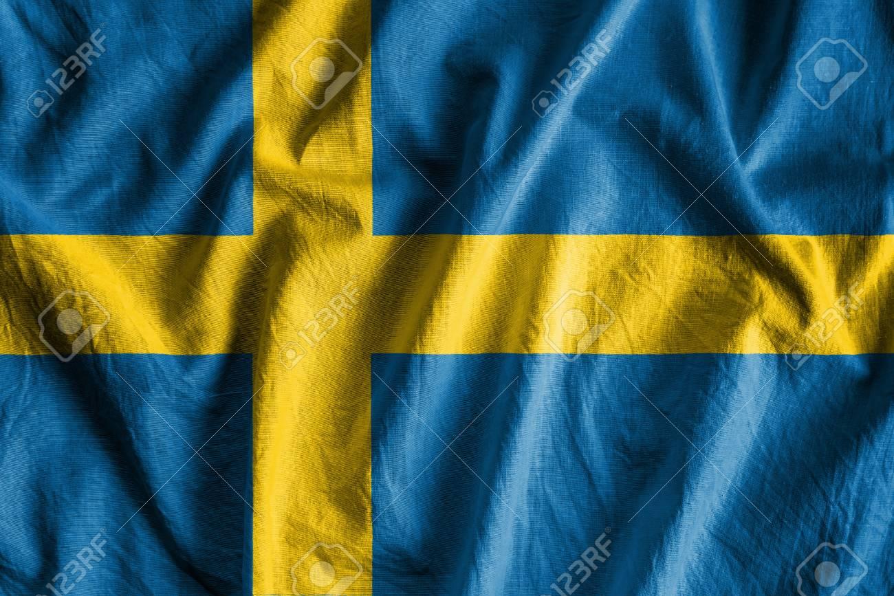 Waving flag of Sweden Stock Photo - 73547194