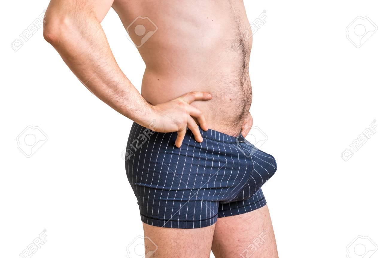 Weißer Kerl großer Schwanz