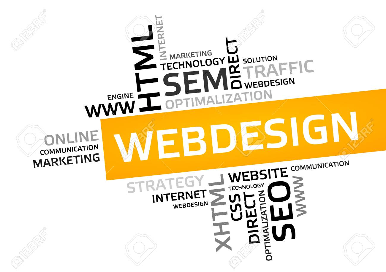Web Design Word Cloud Tag Cloud Vector Graphic Business And