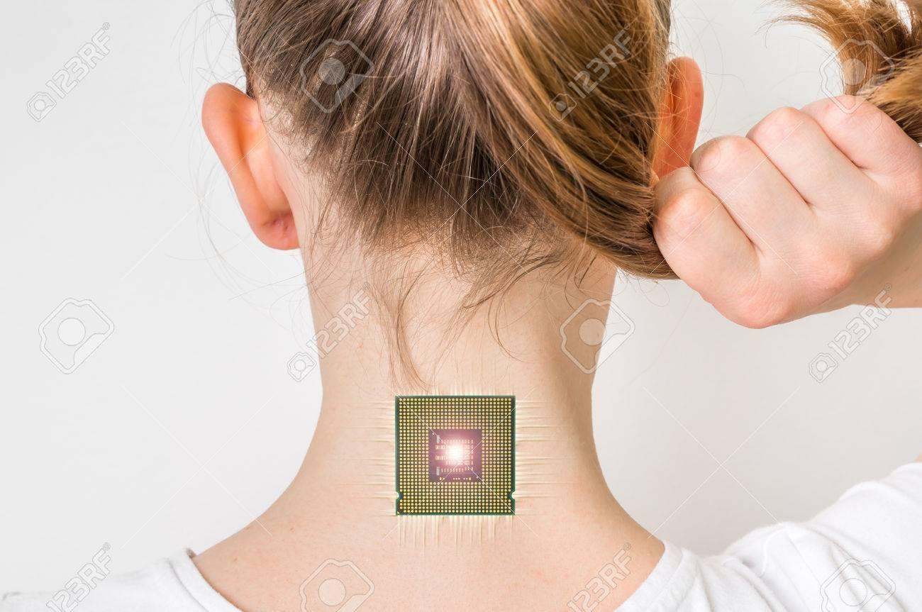 Bionic Microchip Dentro Del Cuerpo Humano Femenino - La Tecnología ...