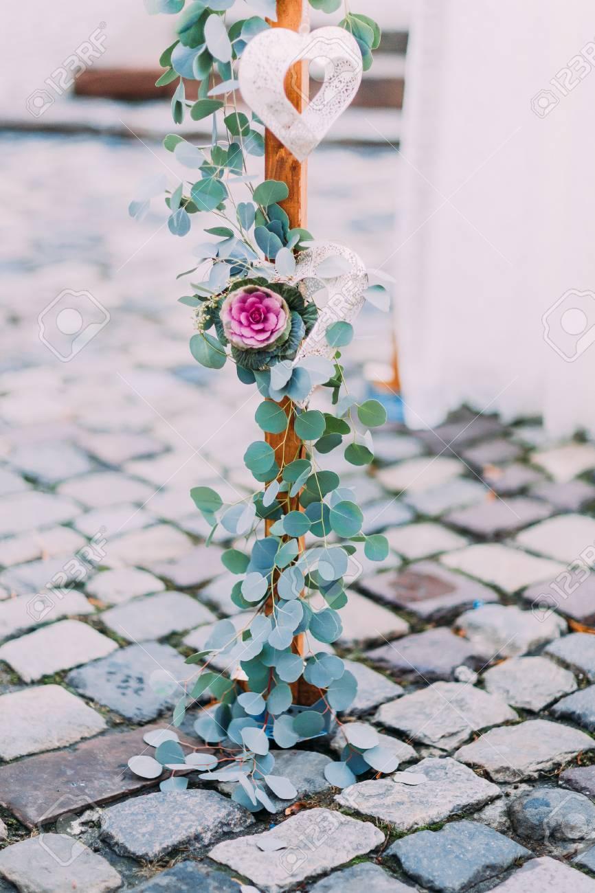 Ein Element Der Dekoration Von Vintage Hochzeit Bogen Mit Blumen Und