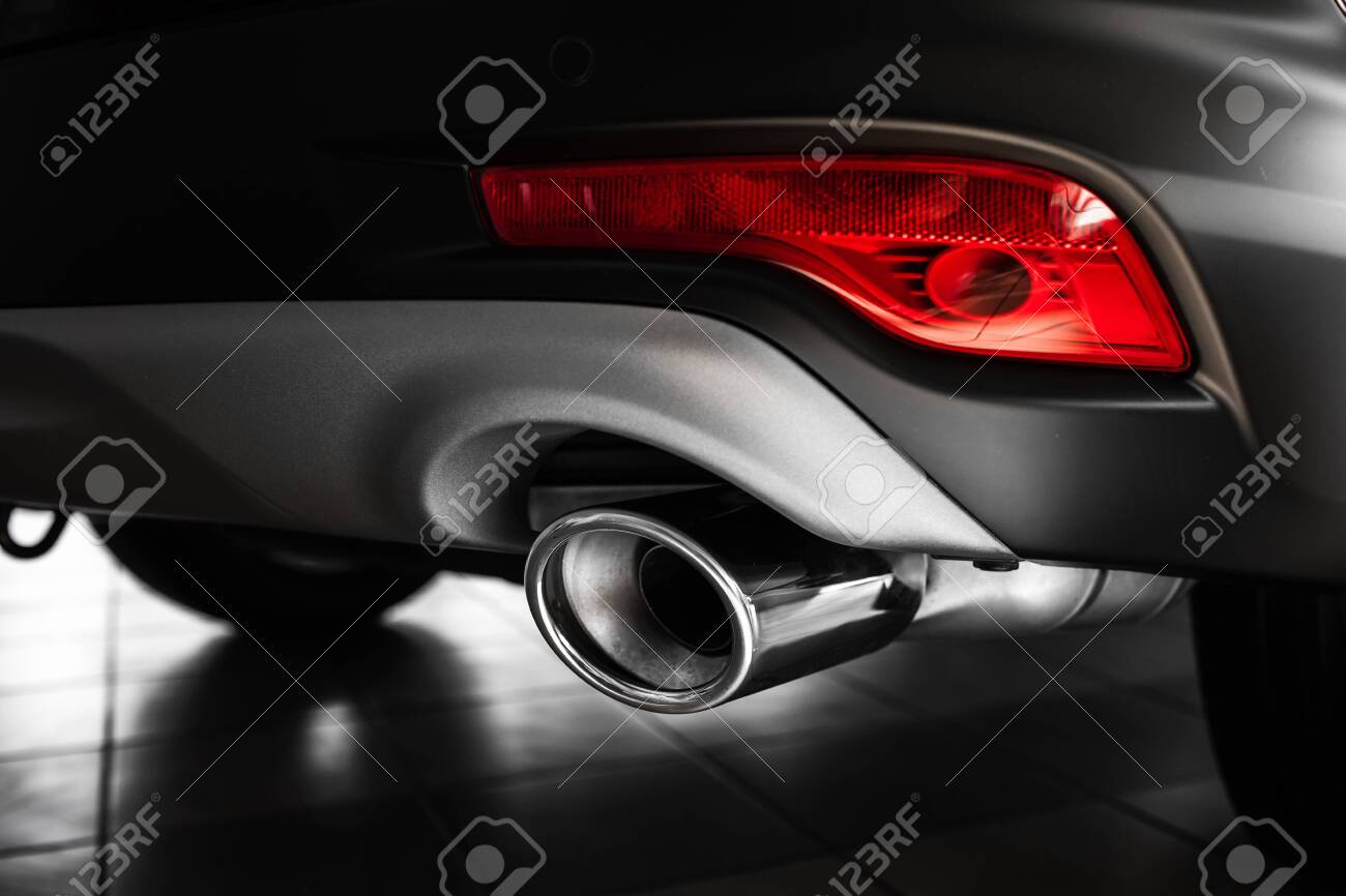 Car Exhaust Pipe Details Of Stylish Car Interior Leather Interior Stock Photo Picture And Royalty Free Image Image 120844318