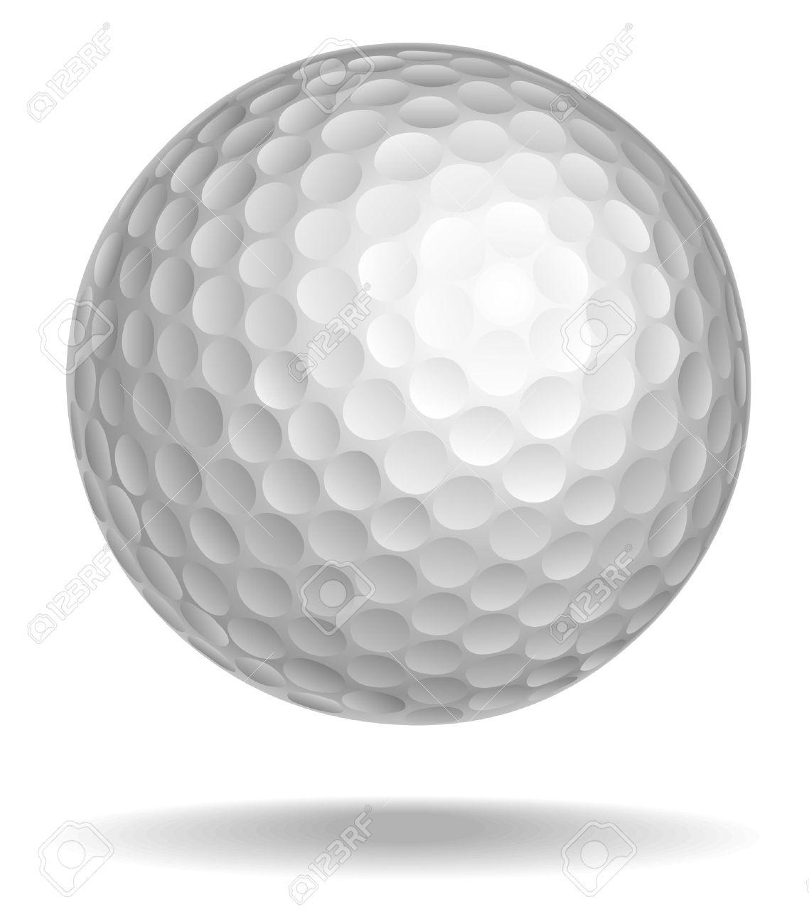 ゴルフ ボールのベクター イラストです。影で白いボール ロイヤリティ