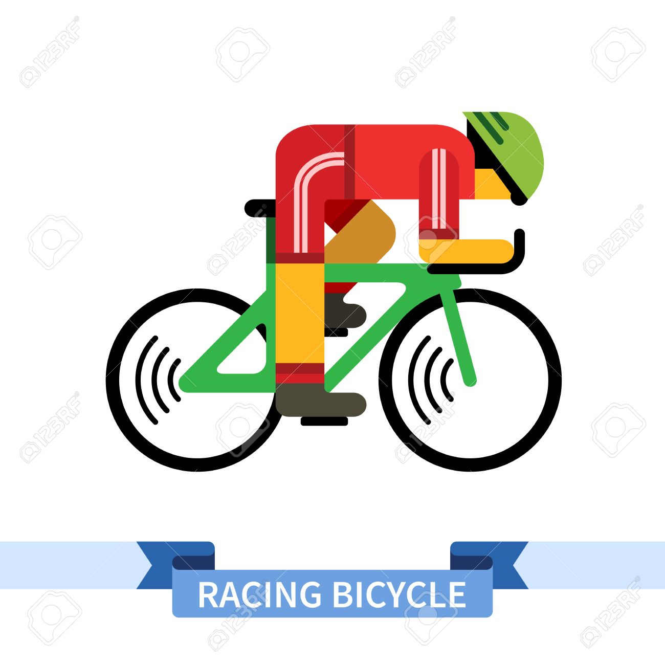 Colored Bike Clip Art