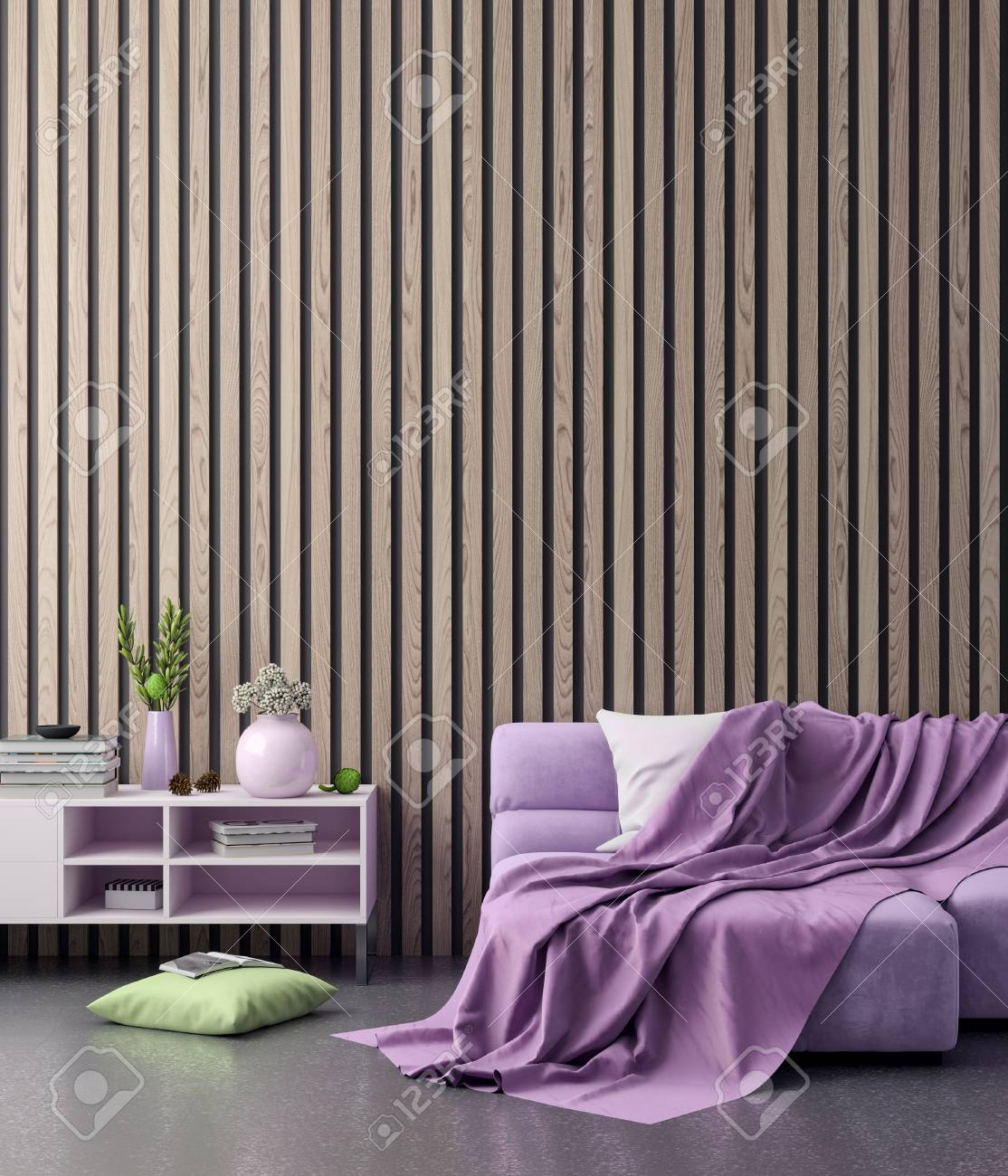 101088898 mock up poster frame in hipster interior background in pink colors and wooden panels 3d render 3d il