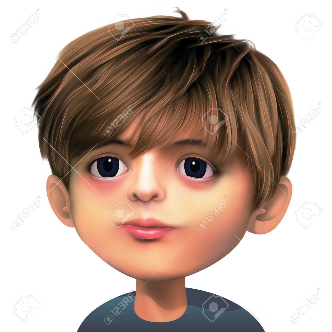 Boy With Brown Hair And Dark Eyes