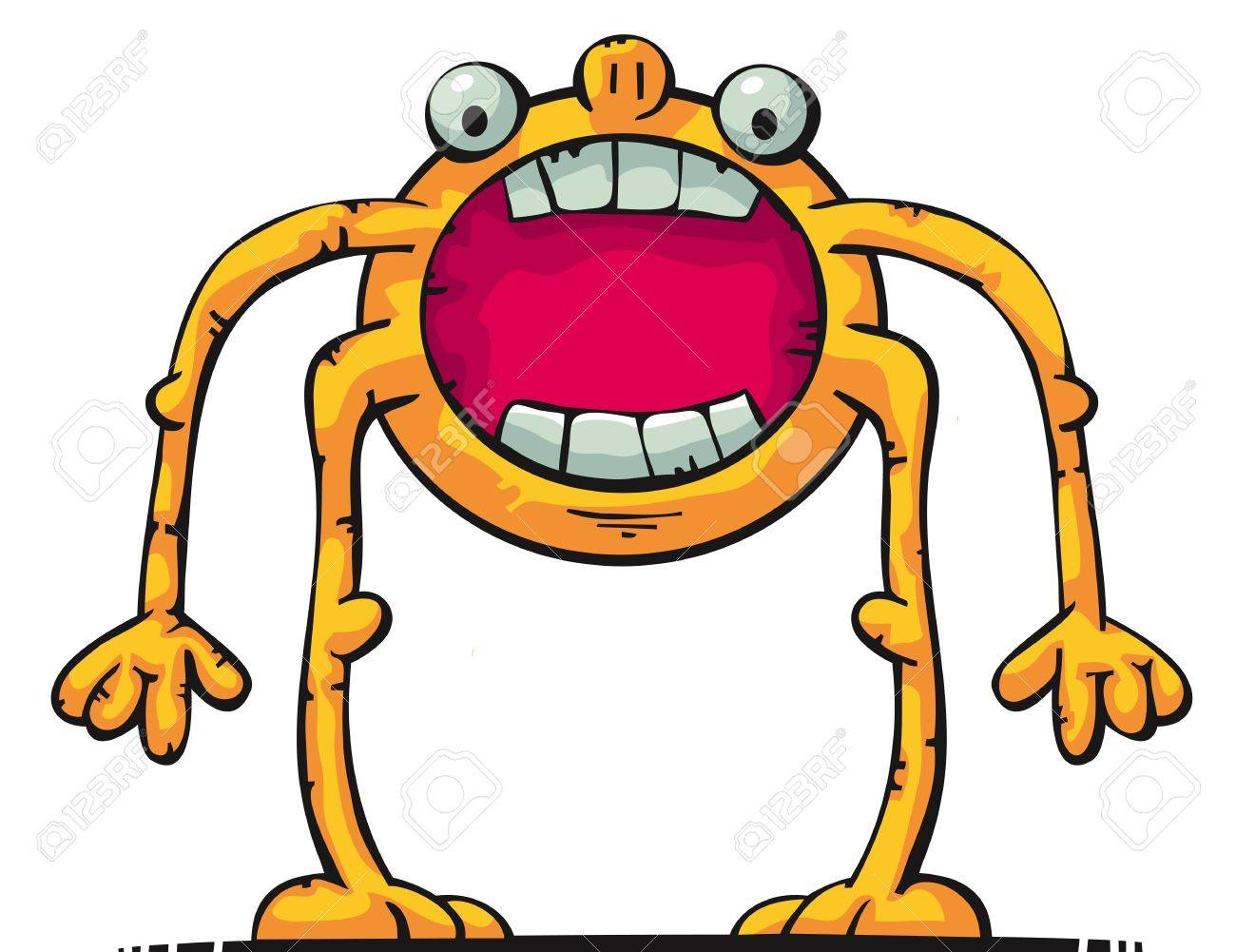 Cute creature with big mouth Stock Vector - 12486813