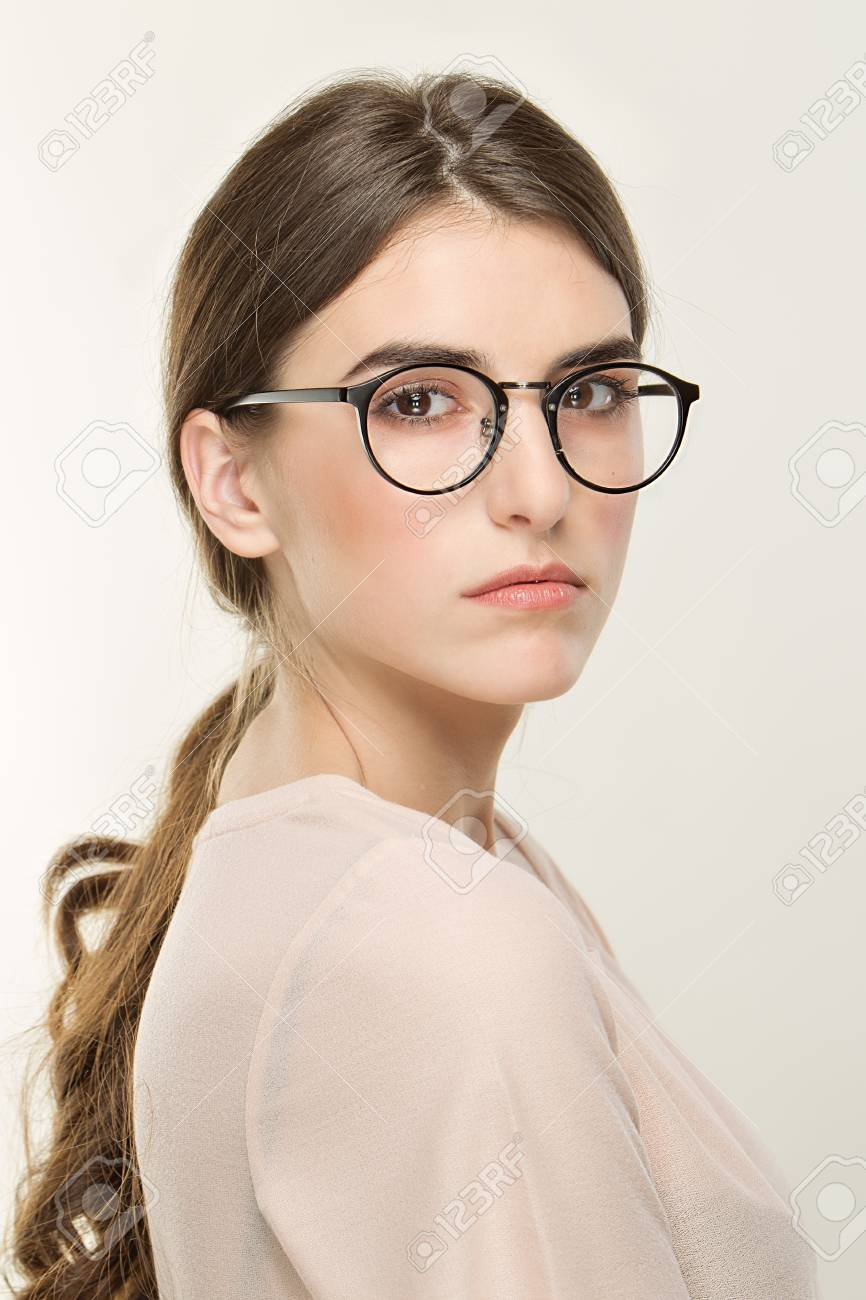 Young girl nude with glasses photos