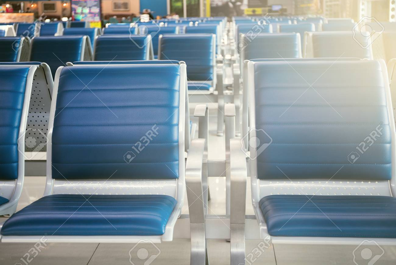 Empty Seats In The Departure Zone View Of Airport Interior Stock Photo Picture And Royalty Free Image Image 125195670