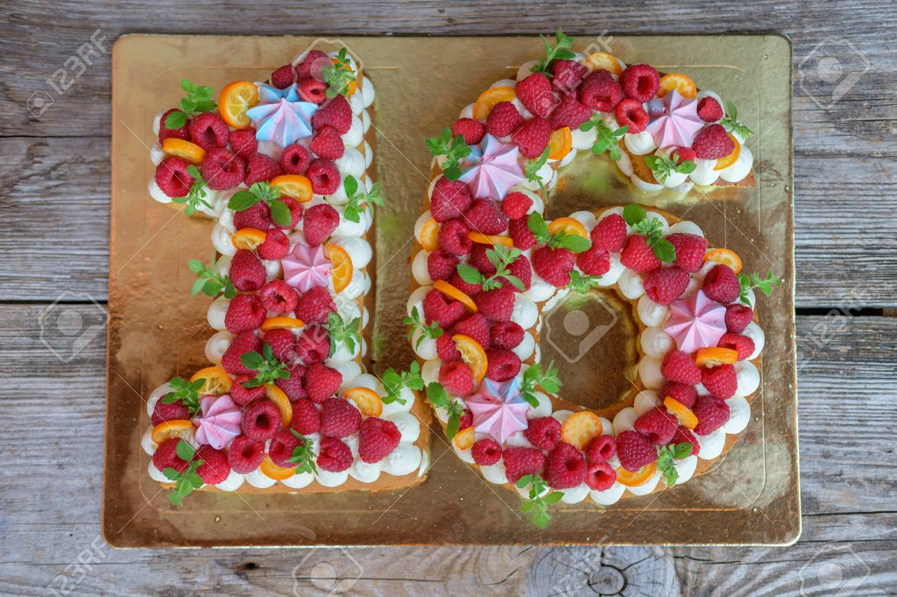 Cool Beautiful Homemade Birthday Cake In The Form Of The Number Sixteen Personalised Birthday Cards Veneteletsinfo