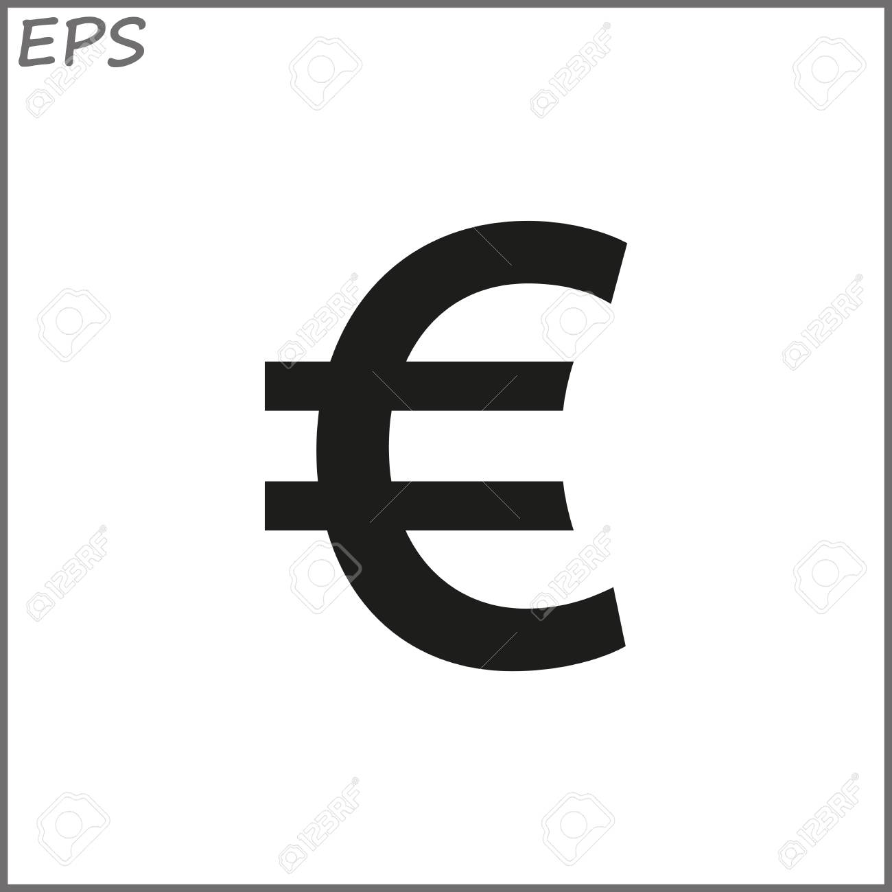 Euro Sign Icon Euro Currency Symbol Money Label Royalty Free